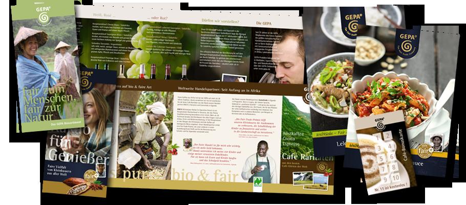 Gepa - Druck der Broschüren und Flyer