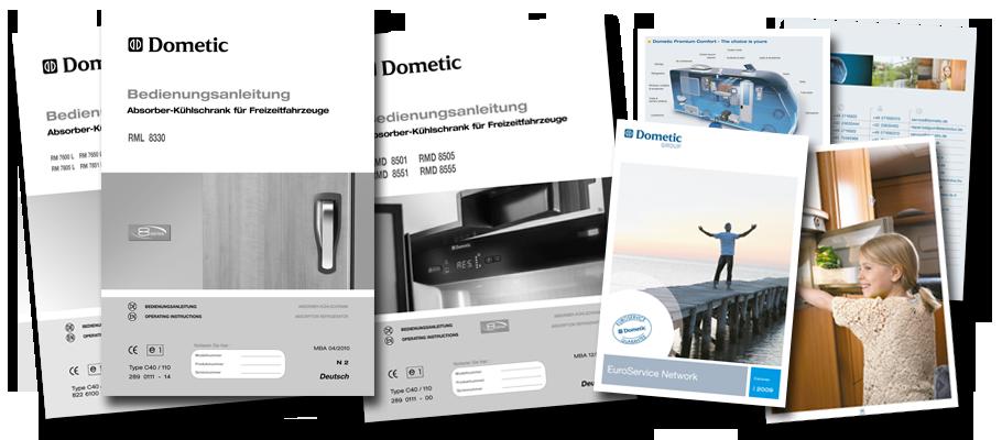Dometic - Druck der Anleitungen und Broschüren